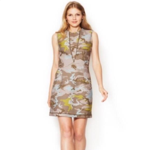 Cynthia Rowley Camo Scuba neoprene mini dress